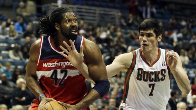 Gortat, Wall lead Wizards over Bucks in OT, 100-92
