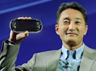 Sony CEO Kazuo Hirai launched the portable PlayStation Vita in 2011