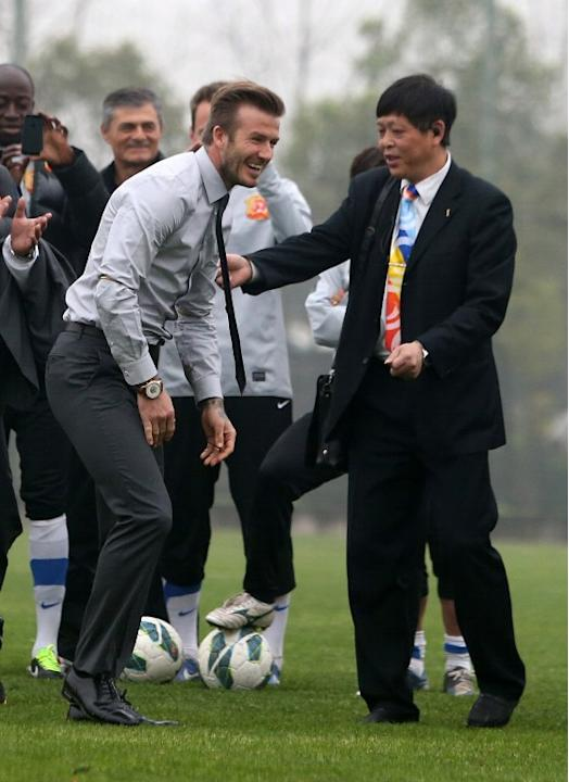 David Beckham in China