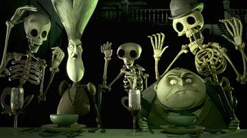 Maudeline Everglot (voiced by Joanna Lumley ) and Finish Everglot (voiced by Albert Finney ) in Warner Bros. Pictures' stop-motion animated film Tim Burton's Corpse Bride