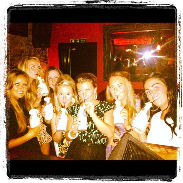 "Celebrity photos: Coleen Rooney went on a girls night out last weekend, where they enjoyed alcoholic milkshakes. She tweeted this photo of her pals, along with the caption: ""The girls are on the $5 do"