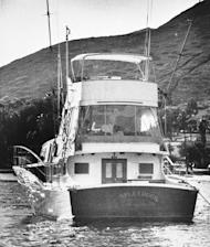 "FILE - The 55-foot yacht ""Splendour,"" belonging to actor Robert Wagner and his wife, actress Natalie Wood, sits in the waters off Catalina Island in Santa Catalina, Calif., near the site where Harbor Patrol personnel and lifeguards discovered the body of Wood, an apparent drowning victim, Nov. 29, 1981. Los Angeles sheriff's homicide detectives are taking another look at Wood's 1981 drowning death based on new information, officials announced Thursday, Nov. 17, 2011. (AP Photo/Harrington, File)"