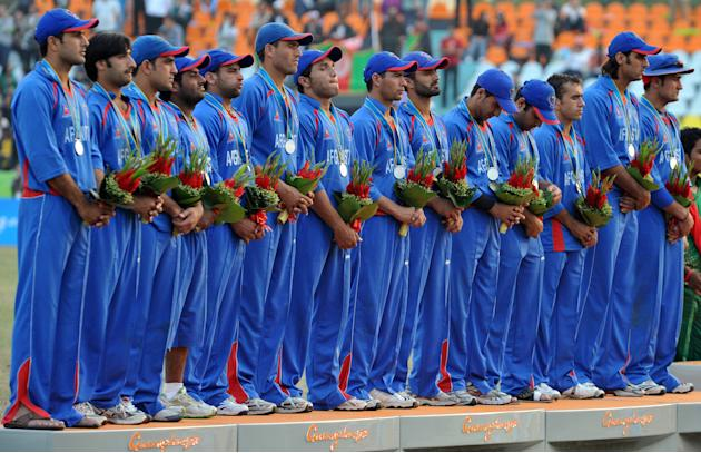Silver medalist cricket team of Afghanis