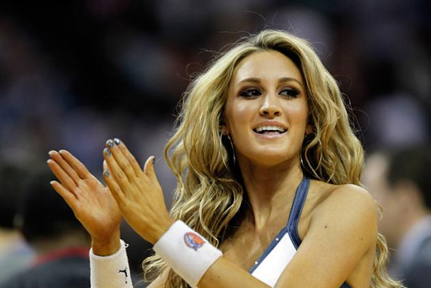 Bobcats Dancer And American Idol Contestant, Brittany Kerr, In Action Getty Images
