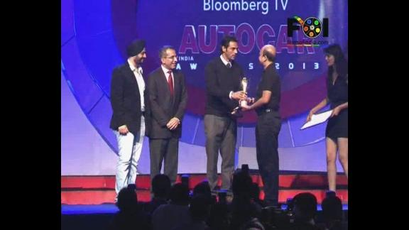 Sachin Tendulkar And Arjun At Autocar Awards