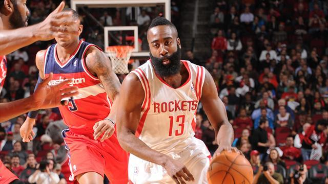 Basketball - Harden seals late win for Rockets against Wizards