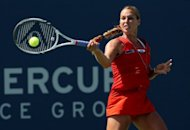 Slovakia's Dominika Cibulkova during her Mercury Insurance Open final against France's Marion Bartoli in Carlsbad on July 22. Cibulkova beat Bartoli 6-1, 7-5 to win the WTA Carlsbad crown, warming up for the London Olympics with her second career title