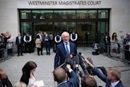 Chairman of Chelsea Football Club Bruce Buck speaks to the media outside Westminster Magistrates court in London. Chelsea captain John Terry was cleared Friday of a charge of racially abusing his fellow footballer Anton Ferdinand