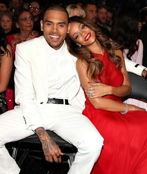 Chris Brown and Rihanna spotted at the 55th Annual Grammy Awards at Staples Center in Los Angeles on February 10, 2013 -- Getty Images