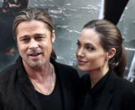 "Brad Pitt and Angelina Jolie met on the set of ""Mr. & Mrs. Smith."""