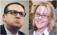 A combination photo shows former Port Authority of New York executive David Wildstein, at a hearing in Trenton, New Jersey, January 9, 2014, and Bridget Anne Kelly (R), deputy chief of staff of New Jersey Governor Chris Christie in an undated photo. New Jersey Governor Chris Christie said at a news conference on January 9, 2014 that he had fired Kelly in the wake of a scandal involving the closure of lanes on the George Washington bridge during a political campaign in September. REUTERS/Mike Segar and North Jersey Media Group