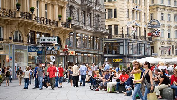 5. (Tied) Austria Highest income tax rate: 50%  Average 2010 income: $50,700   Austria, which is often ranked as one of the world's best places to live, levies a high income tax and social security burden on households.   Its highest marginal tax rate comes into effect at $80,000 of taxable income. The country's social security rate ranges from 17 percent to 18 percent. Special payments for workers like a holiday bonus are also taxed at 6 percent, up to a limit of one-sixth of the annual income. Annual property tax is levied by municipalities at a rate of 0.5 percent to 1 percent of the property's value. Other notable taxes include a capital gains tax of 25 percent.   In April, the Austrian government nailed down a crucial deal with Switzerland to tax money stashed away by its citizens in secret Swiss bank accounts. The existing funds will be taxed between 15 percent to 38 percent based on the size of the deposits and is expected to bring in $1.3 billion in revenue starting in 2013. The government estimates about $12 billion to $20 billion in undeclared funds are parked in Swiss accounts.   Pictured: Street in Vienna  Photo: Ingolf Pompe   LOOK-foto   Getty Images
