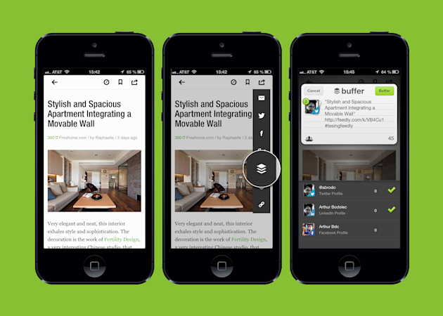 Sharing News Just Got Easier With Buffer And Feedly image feedly plus buffer experience 2