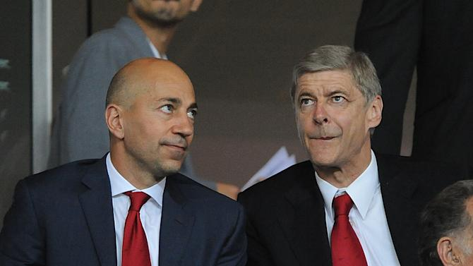 Ivan Gazidis, left, claims money will be available for manager Arsene Wenger to spend