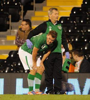 Simon Cox did not fracture his foot in the Republic's friendly on Tuesday