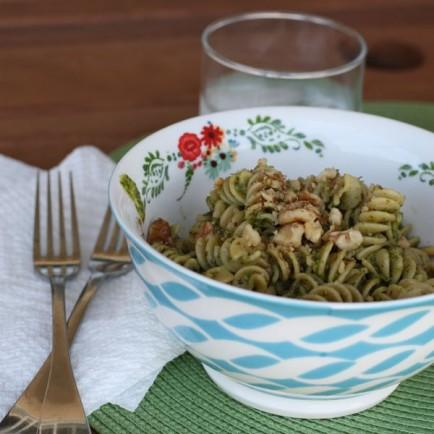 Meyer Lemon and Arugula Pesto Pasta