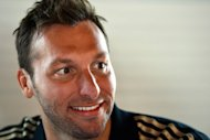 Ian Thorpe, seen here speaking with reporters during a press conference in London, on July 26, on the eve of the 2012 London Olympic Games opening ceremony