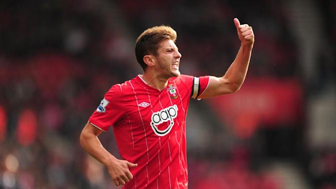Captain Adam Lallana scored the opening goal for Southampton