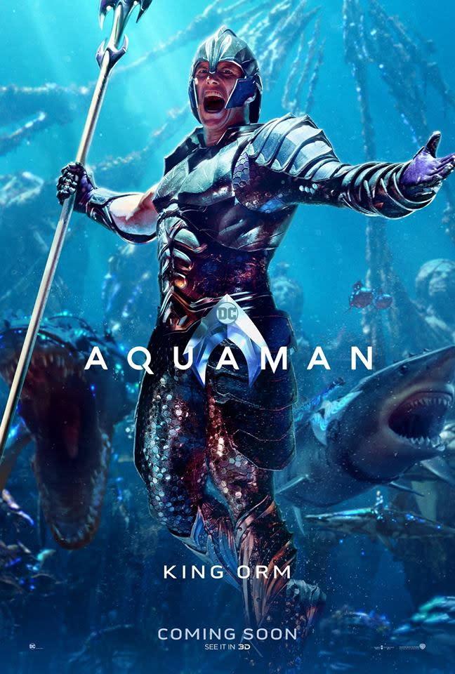 <p>「海洋領主」奧姆(Ocean Master / Orm)◆派屈克威爾森(Patrick Wilson):身為亞瑟庫瑞同母異父的兄弟,奧姆立誓統一水中七大王國,好向地表世界宣戰。 </p>