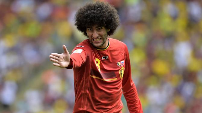 Euro 2016 - Marouane Fellaini double helps five-goal Belgium thrash Cyprus