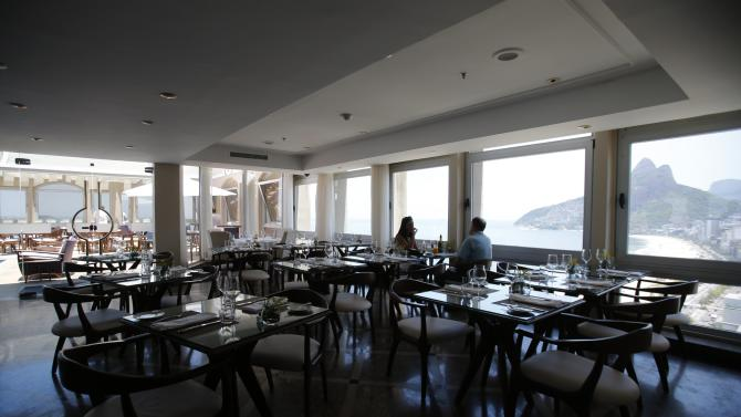 A view of the restaurant at the Caesar Park hotel, where the Netherlands soccer squad is staying for the FIFA 2014 World Cup, in Rio de Janeiro