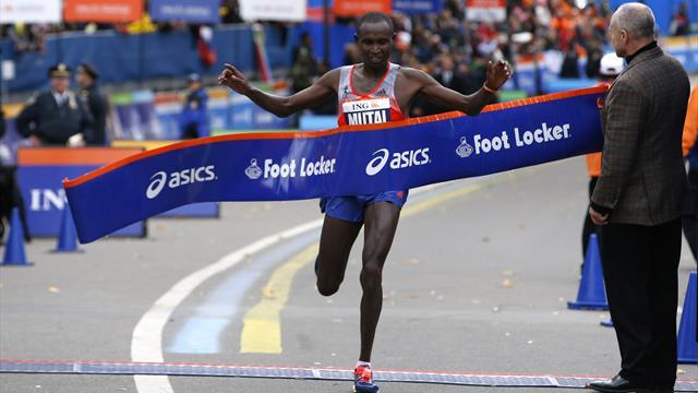 Athletics - Mutai, Jeptoo win NYC Marathon in Kenyan sweep