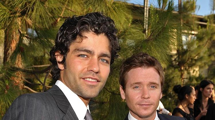 Adrian Grenier and Kevin Connolly arrive at the 8th annual Chrysalis Butterfly Ball held at a private residence on June 6, 2009 in Brentwood, California.