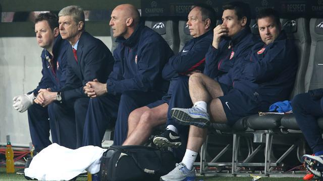 Champions League - Red tape mix-up leaves Arsenal bench one man short