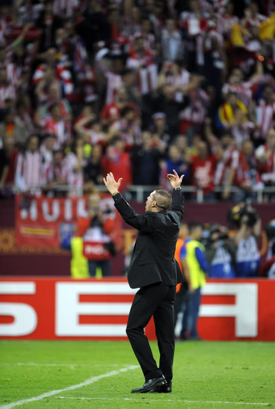 Atletico Madrid's Argentinian Coach Diego Simeone Celebrates AFP/Getty Images