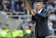 Roberto Mancini, pictured on May 6, believes Manchester City have the ability to dominate the Premier League for years to come - but only if they secure their first title