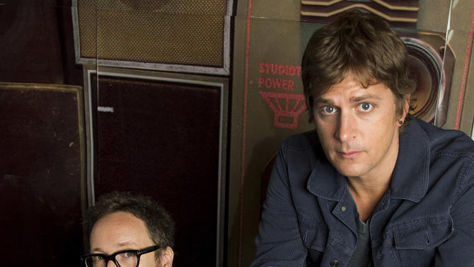 "This July 10, 2012 photo shows Rob Thomas, right, and Paul Doucette of Matchbox Twenty in New York. Matchbox Twenty's new album, ""North,"" debuted at No. 1 on Billboard's 200 albums chart this week. It is the band's first full-length album since 2002's ""More Than You Think You Are."" (Photo by Charles Sykes/Invision/AP)"