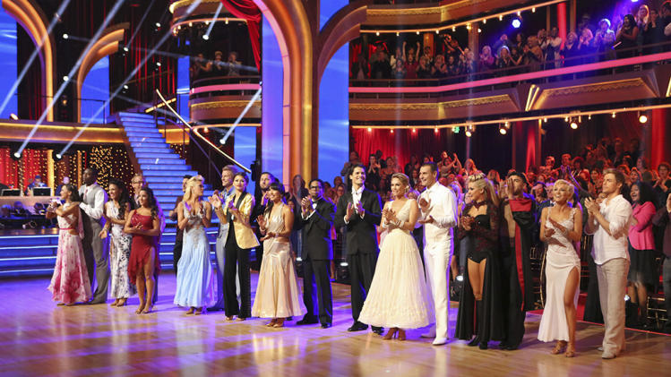 """Dancing With the Stars"" KARINA SMIRNOFF, JACOBY JONES, SHARNA BURGESS, ANDY DICK, ALEXANDRA RAISMAN, MARK BALLAS, PETA MURGATROYD, SEAN LOWE, ZENDAYA, VAL CHMERKOVSKIY, CHERYL BURKE, D.L. HUGHLEY, GLEB SAVCHENKO, KYM JOHNSON, INGO RADEMACHER, LINDSAY ARN"