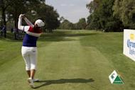 Inbee Park makes a tee shot on the fourth hole during the third round of the Lorena Ochoa Invitational in Guadalajara, Mexico. Park, seeking a third victory of the year and trying to catch Stacy Lewis in the LPGA Player of the Year race, seized a two-shot tournament lead