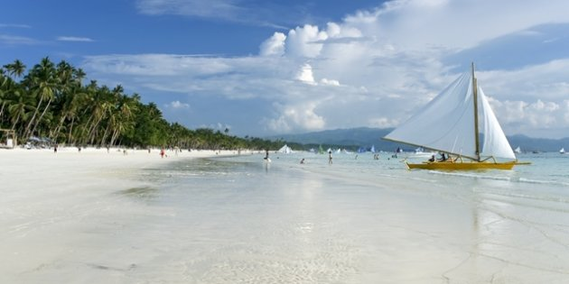 The journey to Boracay is worth it for the pristine white beaches.