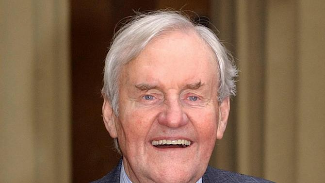 """FILE - This Nov. 13, 2003 photo from files shows veteran actor Richard Briers, 69, at Buckingham Palace, London after receiving an award. British actor Richard Briers, an avuncular presence on TV and movie screens for decades, has died at the age of 79. Briers' agent says the actor died at his London home on Sunday, Feb. 17, 2013. A former heavy smoker, he had suffered from emphysema. Briers starred in the 1970's sitcom """"The Good Life"""" as Tom Good, a man who decides to quit the urban rat race for a life of self-sufficiency. It is regularly voted one of the greatest British sitcoms of all time, and is still repeated on television. (AP Photo/PA, Kirsty Wigglesworth)  UNITED KINGDOM OUT  NO SALES  NO ARCHIVE"""
