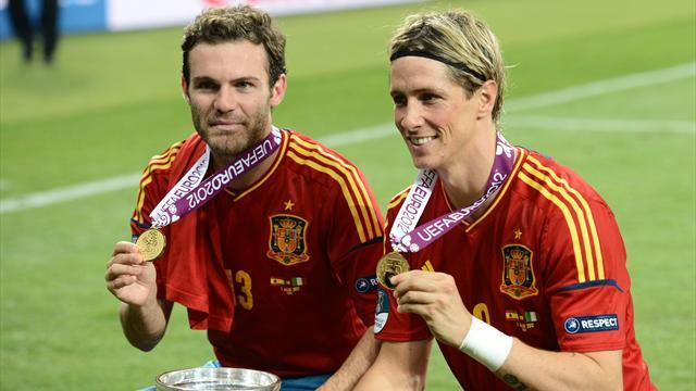World Cup - Torres, Mata included in Spain's 30-man squad
