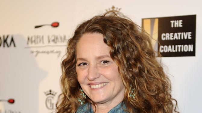 Melissa Leo arrives at the Creative Coalition Night Before Dinner on Sunday Jan. 20, 2013, in Washington. (Photo by Nick Wass/Invision/AP)