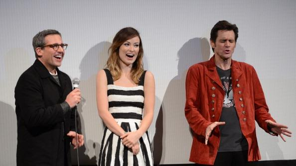 Steve Carell, Olivia Wilde and Jim Carrey