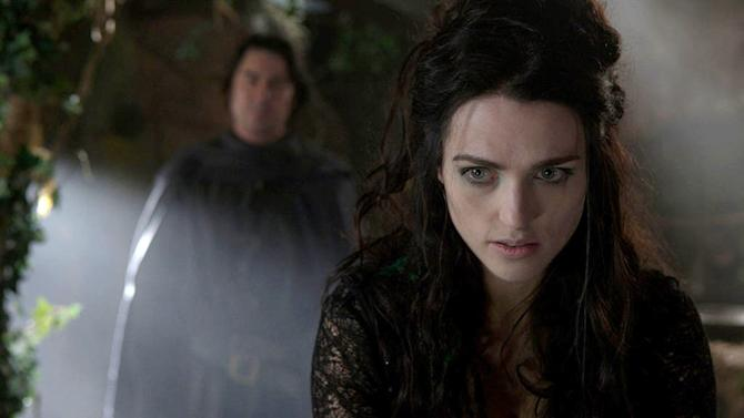 """Katie McGrath as Morgana begins to plot her next attack on Camelot as seen on """"Merlin."""""""