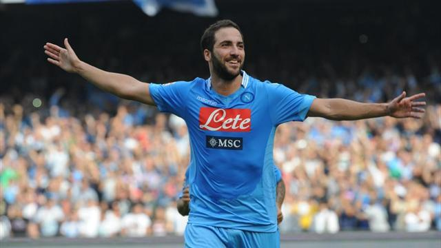 Serie A - Higuain double sees Napoli close gap on Roma