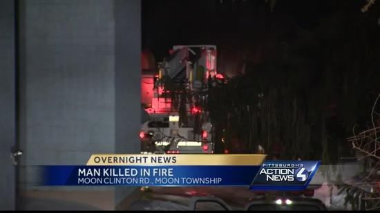 Man dies in fire at Moon Township apartment building