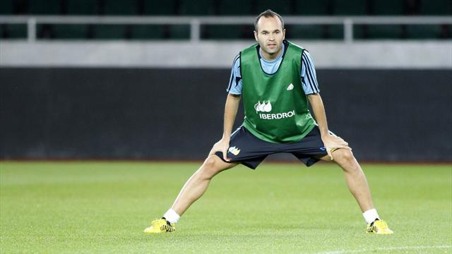 Iniesta to miss Spartak Moscow clash