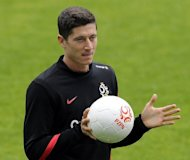 Poland striker Robert Lewandowski, pictured on June 1, can only get better with the co-hosts set to begin their Euro 2012 campaign in Friday's opening match, according to Germany star Miroslav Klose