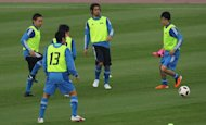 Japan's national soccer players train in Doha ahead of AFC Asian Cup 2011 on January 5, 2011. Asian Cup holders Japan will take on Canada in preparation for a World Cup qualifier against Jordan in March, the Japan Football Association said