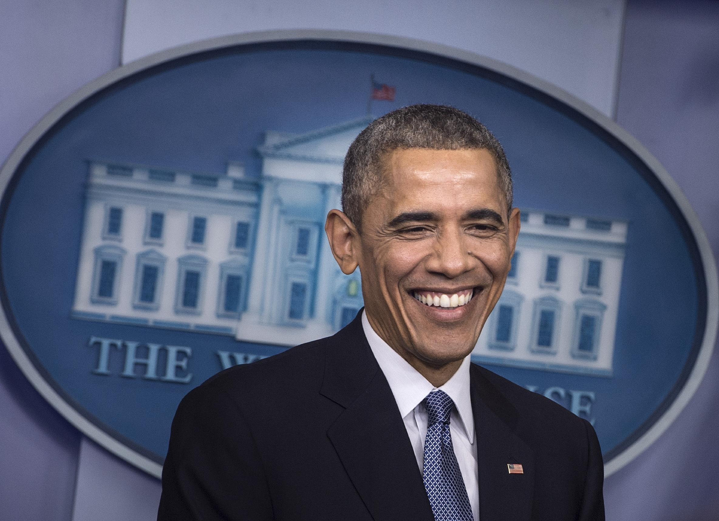 Jovial Obama paints picture of resurgent America