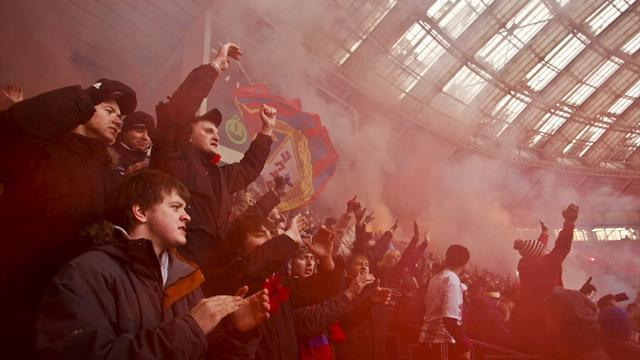 European Football - CSKA Moscow and Serbian fans banned after more racism
