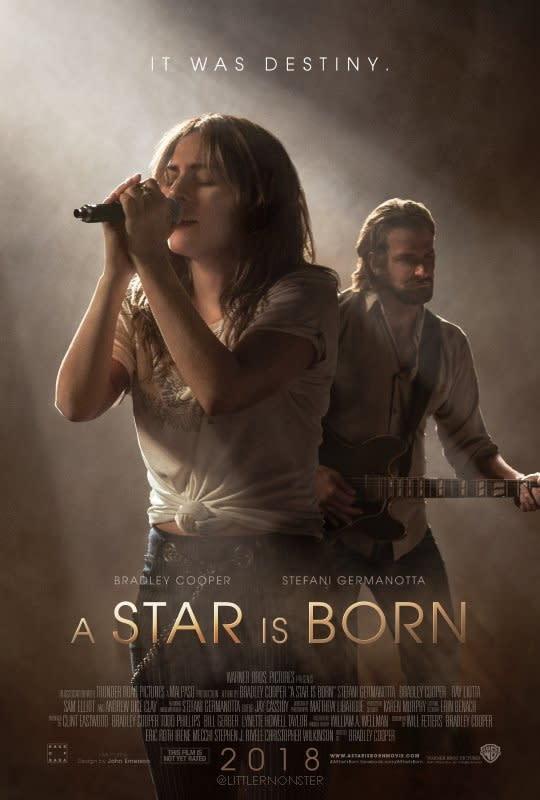 <p>一、《星海浮沉錄(暫譯)》A Star Is Born:邀得女神卡卡(Lady Gaga)以女主角身分參與演出的《星海浮沉錄》,也是男主角布萊德利庫柏(Bradley Cooper)首度自導自演的作品。翻拍自1937年的經典同名電影,本片已經是第四度改編上映,而女神卡卡也將以本名史黛芬妮潔瑪諾塔(Stefani Germanotta)在片中現身。以音樂歌舞愛情為主題的《星海浮沉錄》,是否能再現《樂來越愛你》的走紅氣勢,且讓我們拭目以待。(圖/《星海浮沉錄》官方海報) </p>