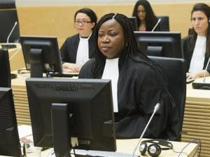 Chief Prosecutor Bensouda looks on during the case…