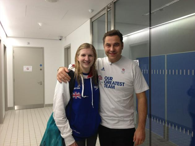 Celebrity Twitpics: David Walliams has shown himself to be a bit of an Olympics obsessive over the past couple of weeks. He's even had photos taken with the Olympic athletes, including Rebecca Adlingt