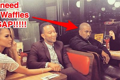 Kanye and Kim went on a Waffle House double date with John Legend and Chrissy Teigen